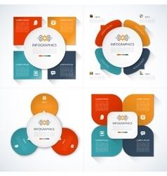 Set of modern minimal infographic design templates vector image