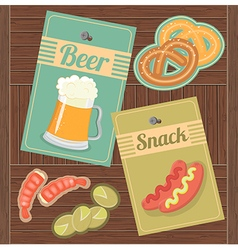 Beer and Snack vector image vector image