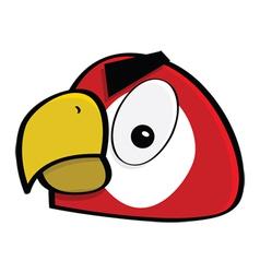 crazy macaw vector image