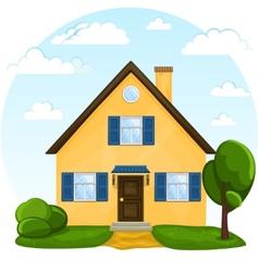 cute cartoon house vector image vector image