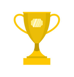 gold winner cup icon flat style vector image