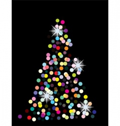 holiday tree vector image vector image