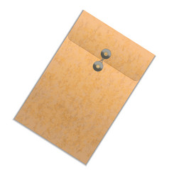 realistic detailed brown folder vector image