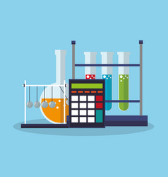 science related icons vector image