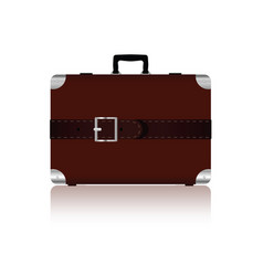 travel bag with belts in brown color five variant vector image vector image