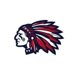 American indian chief logo or icon vector