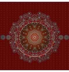 arabesque frame2 vector image vector image