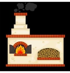 Decorative russian stove vector image