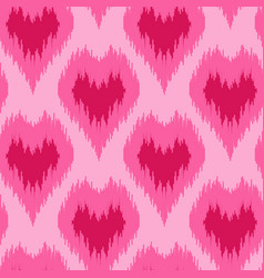 ethnic seamless pattern with hearts vector image