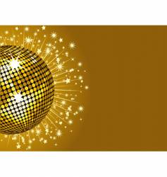 gold disco ball and stars vector image vector image