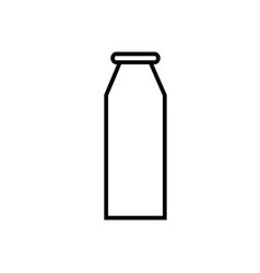 milk bottle icon vector image