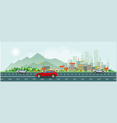 modern life and urban traffic banner vector image vector image