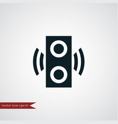 speaker icon simple vector image