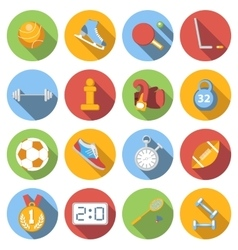 Sport icons set colored flat vector