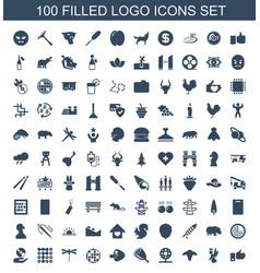 100 logo icons vector