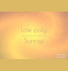 a low poly light orange abstract background vector image