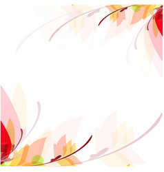 abstract colorful leaves flowers white background vector image