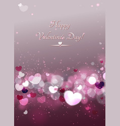 Abstract glow soft hearts for valentines day vector