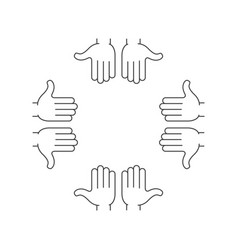 arms hands frame vector image