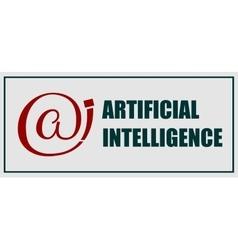 Artificial intelligence emblem vector
