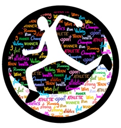 Athlete icon vector image