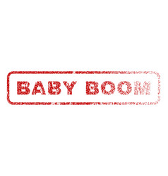 baby boom rubber stamp vector image vector image