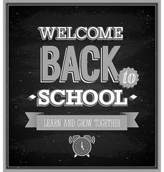 Back To School typographic design vector image