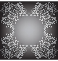 Black background with pattern frame vector image vector image