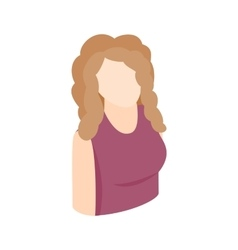 Blond woman icon isometric 3d style vector image