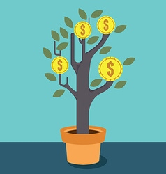 Business optimization Tree with money vector