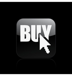 Buy button icon vector