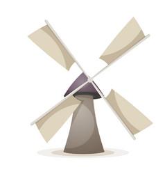 cartoon wind mill vector image