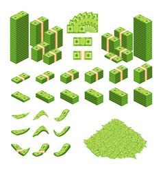 cash money set vector image