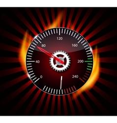 Checkered flag speedometer vector image