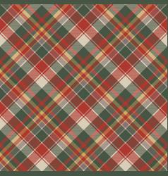 Classic check tartan diagonal seamless fabric vector