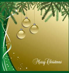 Classic christmas background with pine needles vector