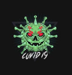 Corona and covid-19 viruses vector