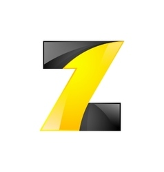 Creative yellow and black symbol letter Z for your vector