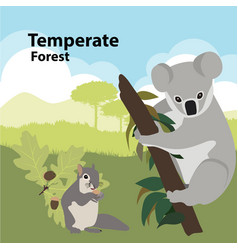 Eco style life forest wildlife vector