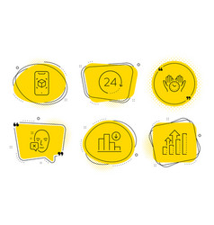 Face declined safe time and 24 hours icons set vector