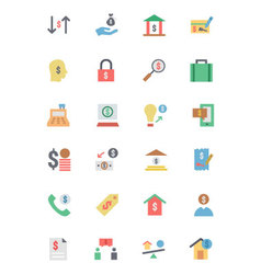 Flat Card Payment Icons 5 vector