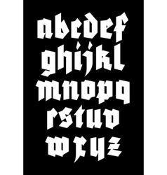 Gothic alphabet font vector
