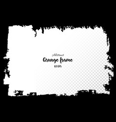 grunge frame hand drawn textured design elements vector image