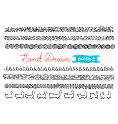 Hand - drawn borders collection of simple hand - vector