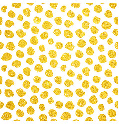 hand drawn gold dots seamless pattern vector image