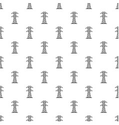 High voltage tower pattern vector