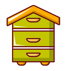 Hive for bees icon cartoon style vector