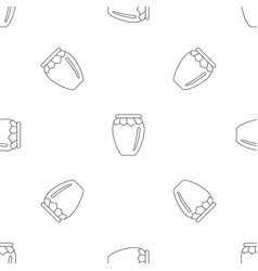 honey jar icon outline style vector image