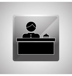 Hotel receptionist design vector