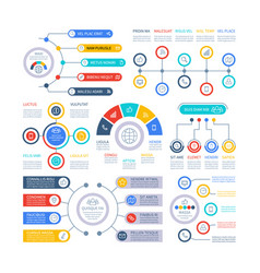 Infographic elements financial presentation vector